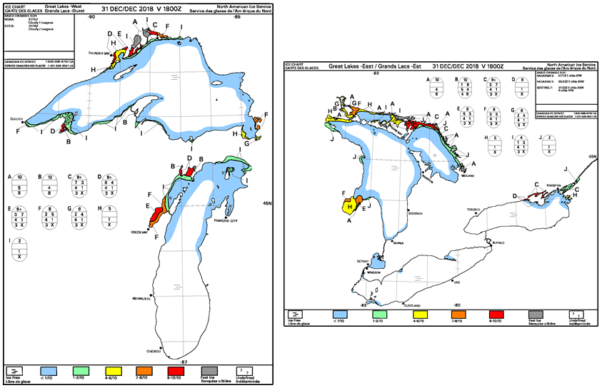 Example of the east and west 