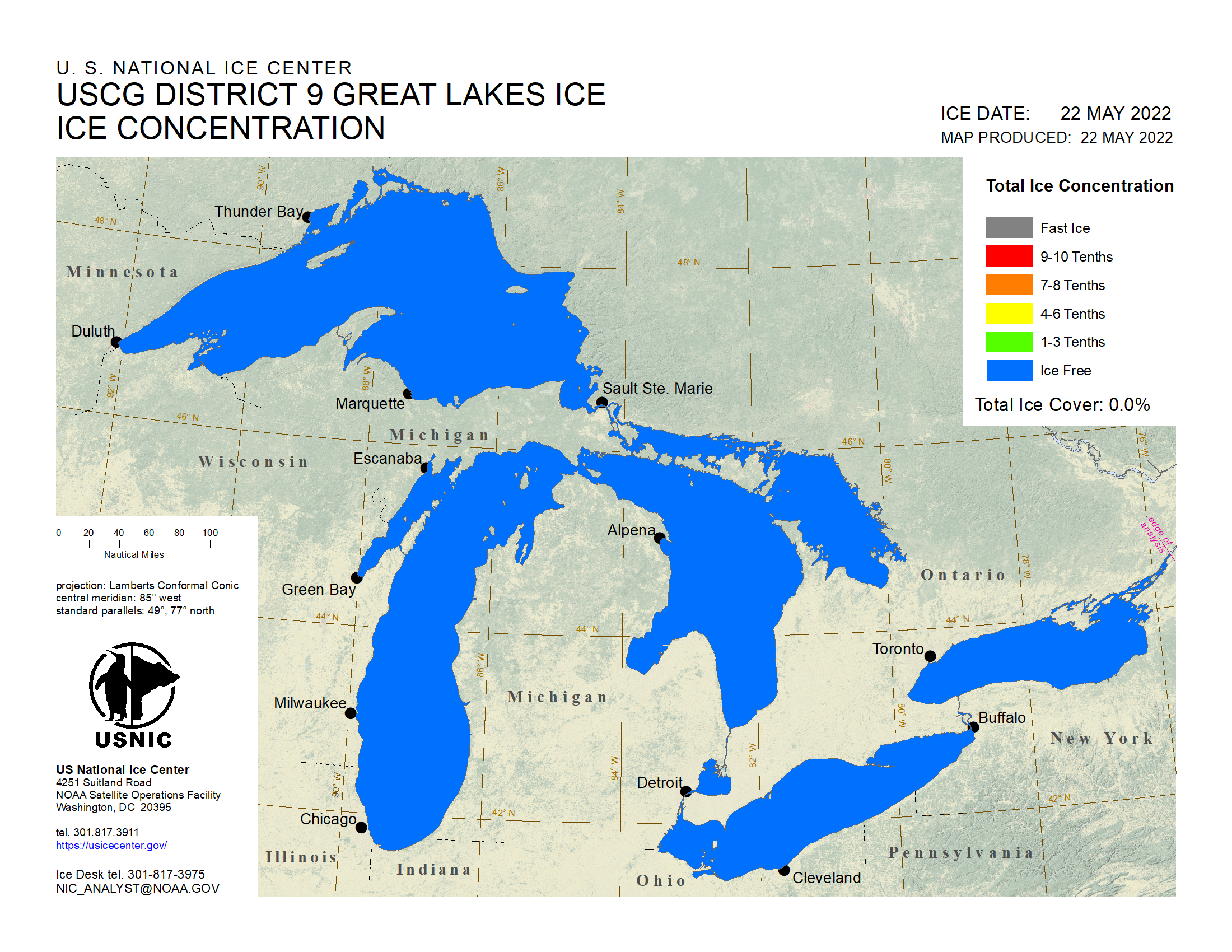 Current Great Lakes Ice Concentration