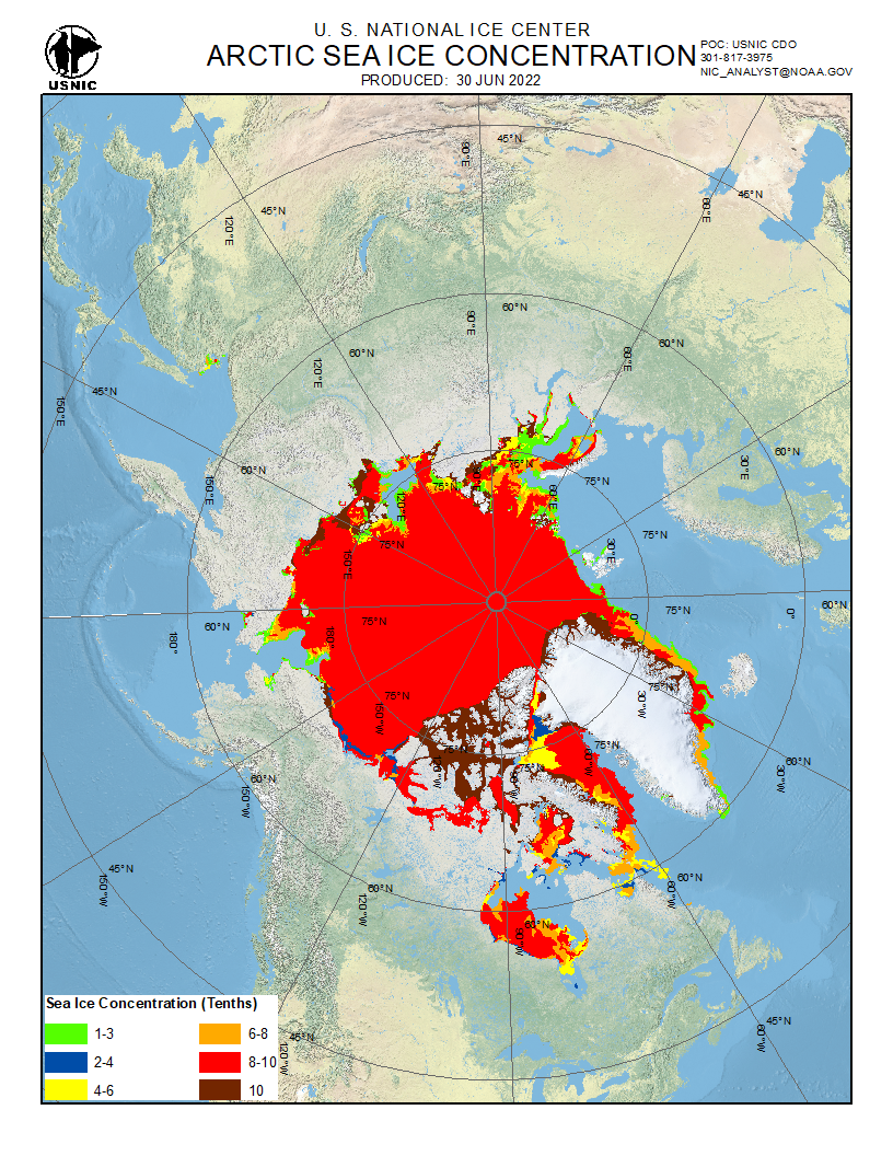 Arctc Sea Ice Concentration
