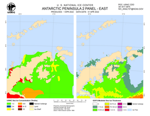 Thumbnail image of Antarctic peninsula chart