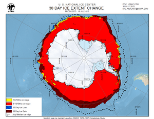 Thumbnail image of Antarctic 30-Day ice change chart
